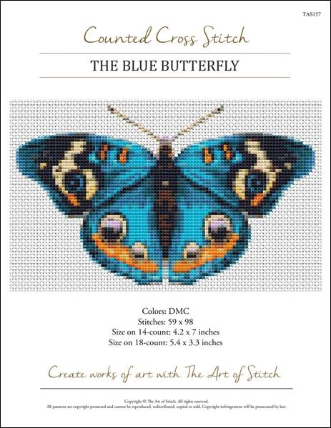 click here to view larger image of Blue Butterfly, The (chart)