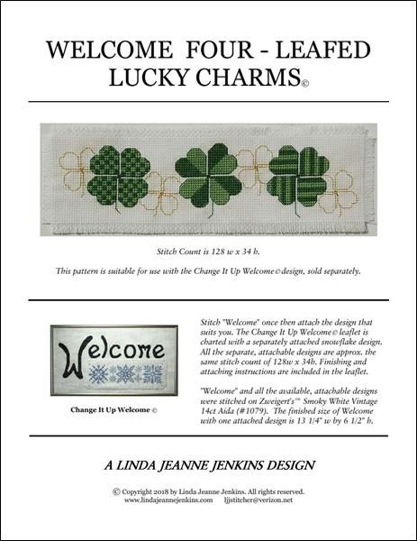 click here to view larger image of Welcome Four - Leafed Lucky Charms (chart)
