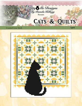 click here to view larger image of Cats And Quilts April (chart)