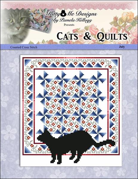 click here to view larger image of Cats And Quilts July (chart)