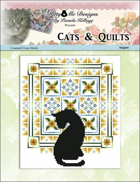 click here to view larger image of Cats And Quilts August (chart)