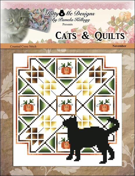 click here to view larger image of Cats And Quilts November (chart)