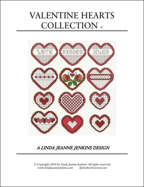 click here to view larger image of Valentine Hearts Collection (chart)