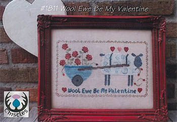 click here to view larger image of Wool Ewe Be My Valentine (chart)