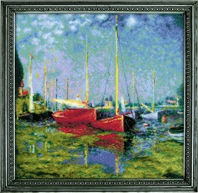 Argenteuil (After C. Monet's Painting) - click here for more details about counted cross stitch kit