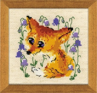 click here to view larger image of Little Fox (counted cross stitch kit)