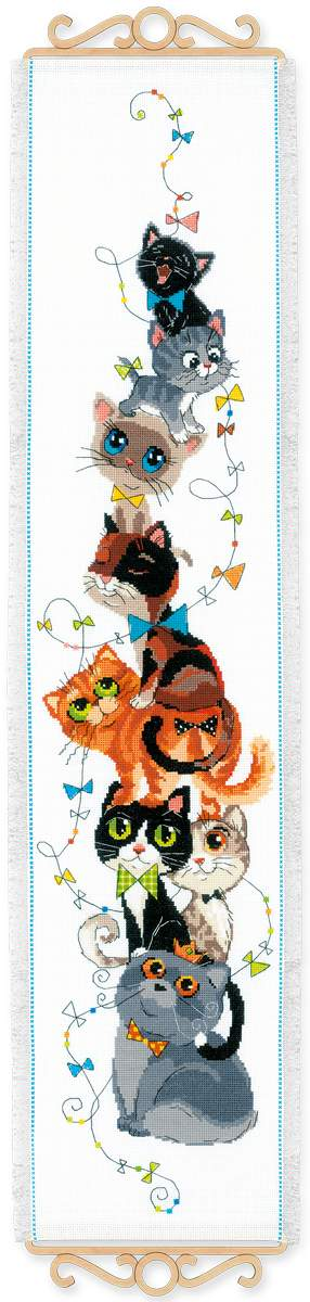click here to view larger image of King of the Heap (counted cross stitch kit)