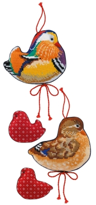 click here to view larger image of Mandarin Ducks   (counted cross stitch kit)