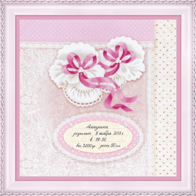 click here to view larger image of Baby Girl Booties (counted cross stitch kit)