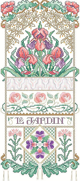 click here to view larger image of Le Jardin Sampler (chart)