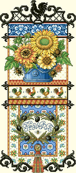 click here to view larger image of Provence Sunflower Sampler (chart)