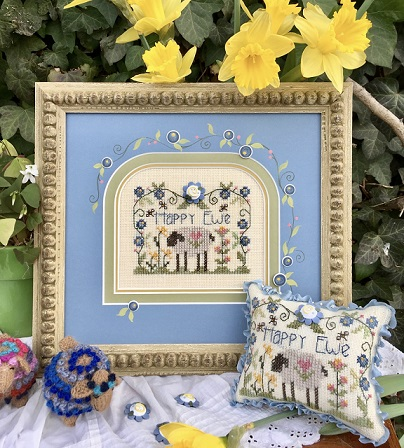 click here to view larger image of Happy Ewe (counted cross stitch kit)