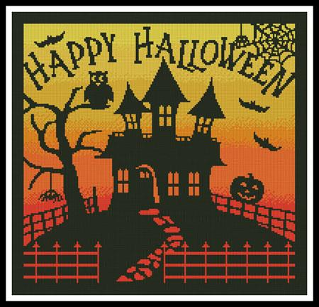 click here to view larger image of Halloween House Square   (chart)