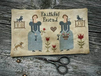 click here to view larger image of Prairie Sisters Scissor Mat (chart)