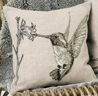 Hummingbird - Cushion - click here for more details about counted cross stitch kit