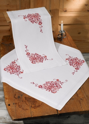 click here to view larger image of Redwork - Table Runner (top) (counted cross stitch kit)
