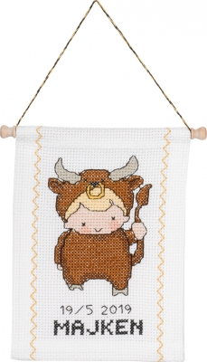 click here to view larger image of Taurus (counted cross stitch kit)