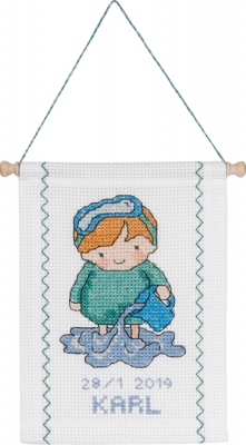 click here to view larger image of Aquarius (counted cross stitch kit)