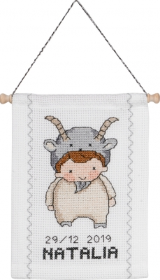 click here to view larger image of Capricorn (counted cross stitch kit)
