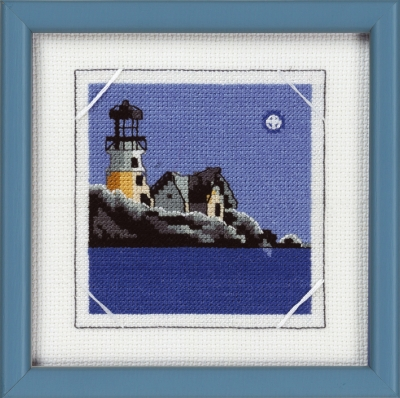 click here to view larger image of Lighthouse/House (counted cross stitch kit)