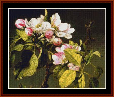 click here to view larger image of Apple Blossoms - Heade (chart)