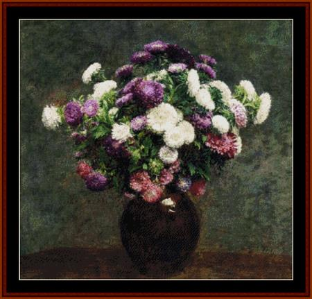 click here to view larger image of Asters in a Vase (chart)