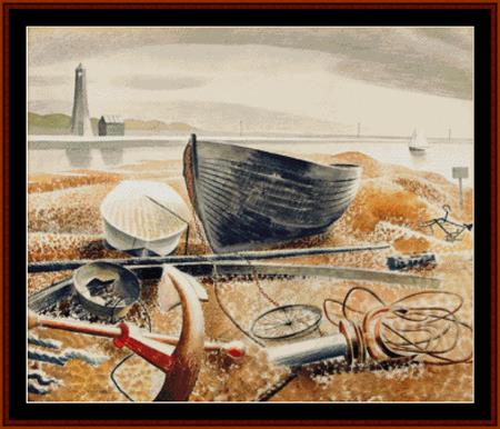 click here to view larger image of Anchor and Boats (Eric Ravilious) (chart)