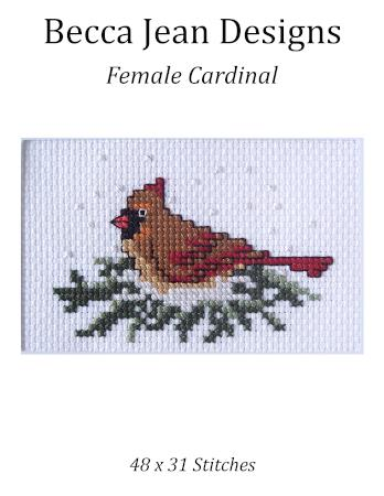 click here to view larger image of Female Cardinal (chart)