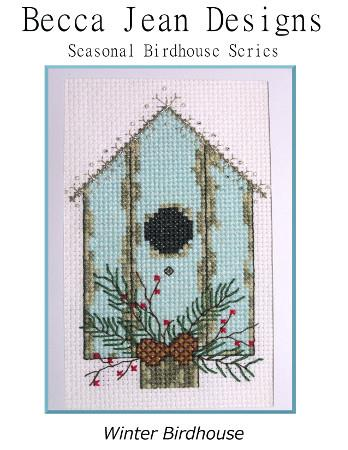 click here to view larger image of Winter Birdhouse - Seasonal Birdhouse Series (chart)