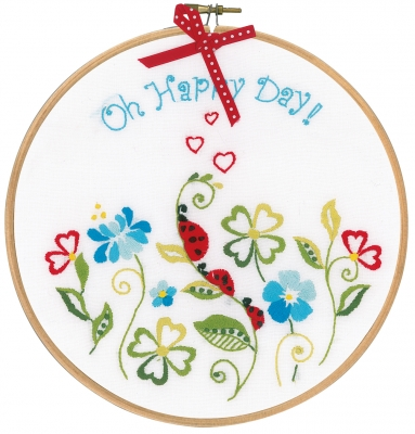 click here to view larger image of Oh Happy Day (embroidery kit)