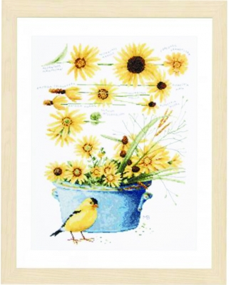 click here to view larger image of Helianthus Sunflowers by Marjolein Bastin (counted cross stitch kit)