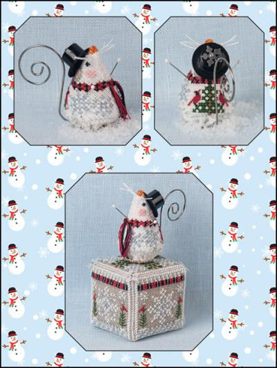 click here to view larger image of Frosty Chillingsworth Mouse (chart with charms/buttons)