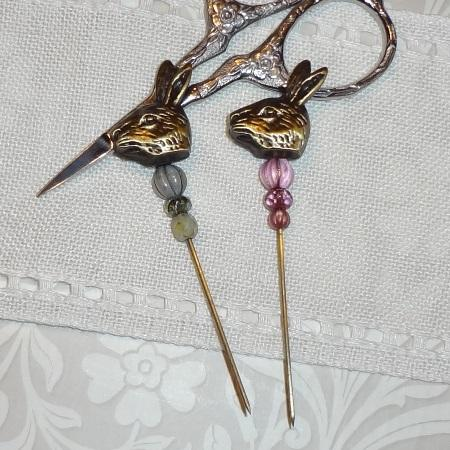 click here to view larger image of Bronze Rabbit Hat Pin (accessory)