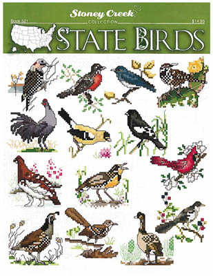 click here to view larger image of State Birds (chart)