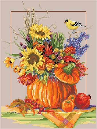 click here to view larger image of Fall Floral Arrangement (chart)