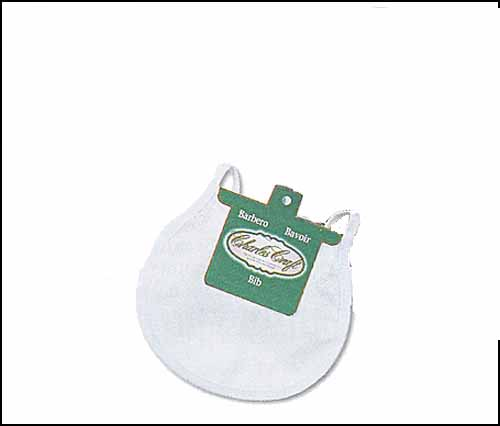 click here to view larger image of White Trim Infant Baby Bib (stitchable)
