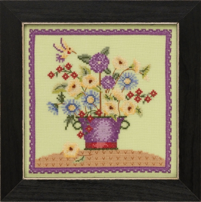 click here to view larger image of Floral Bouquet - Blooms & Blossoms (counted cross stitch kit)