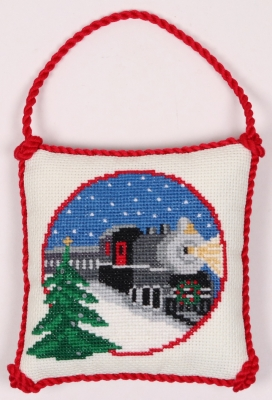 click here to view larger image of Christmas Train Ornament (counted cross stitch kit)