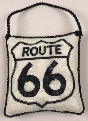 click here to view larger image of Route 66 Ornament (counted cross stitch kit)