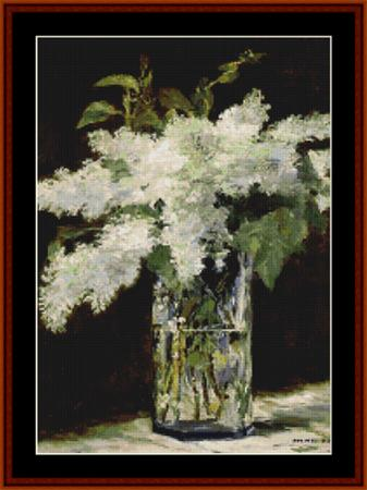 click here to view larger image of Lilacs in a Vase - Manet (chart)