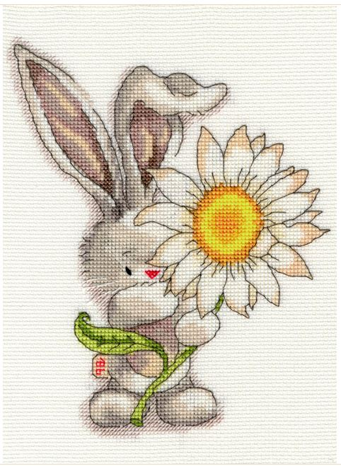 click here to view larger image of Daisy  (counted cross stitch kit)