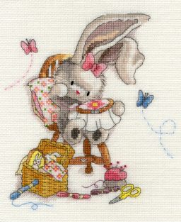 click here to view larger image of Sewn With Love (counted cross stitch kit)