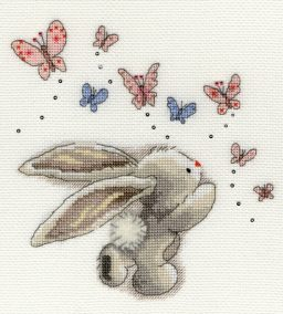 click here to view larger image of Butterflies (counted cross stitch kit)