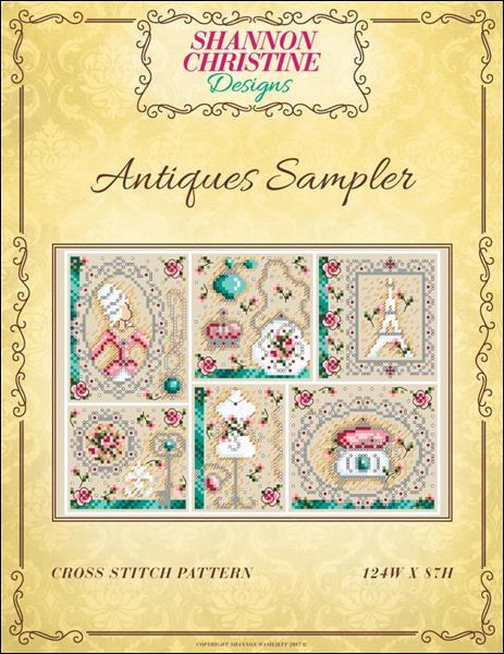 click here to view larger image of Antiques Sampler (chart)