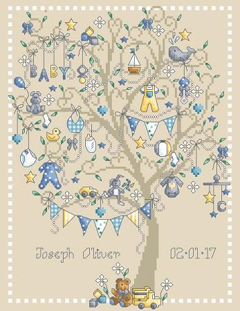 click here to view larger image of Baby Boy Tree (chart)