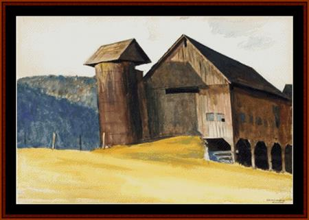 click here to view larger image of Barn and Silo, 1929 (Hopper) (chart)
