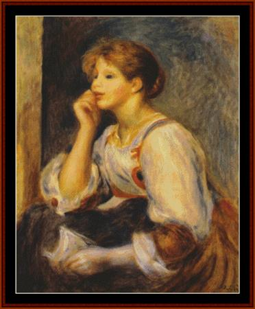 click here to view larger image of Girl with a Letter, 1894 - Renoir (chart)
