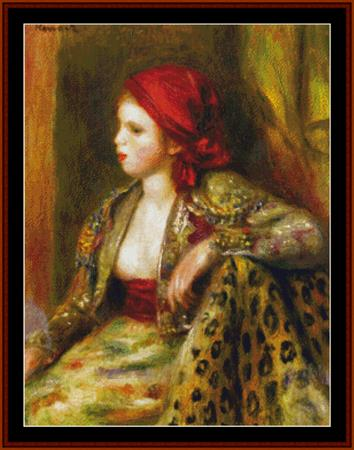 click here to view larger image of Odalisque - Renoir (chart)