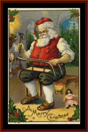 Vintage Santa at Work - click here for more details about chart