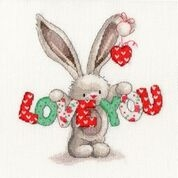 click here to view larger image of Love You (counted cross stitch kit)